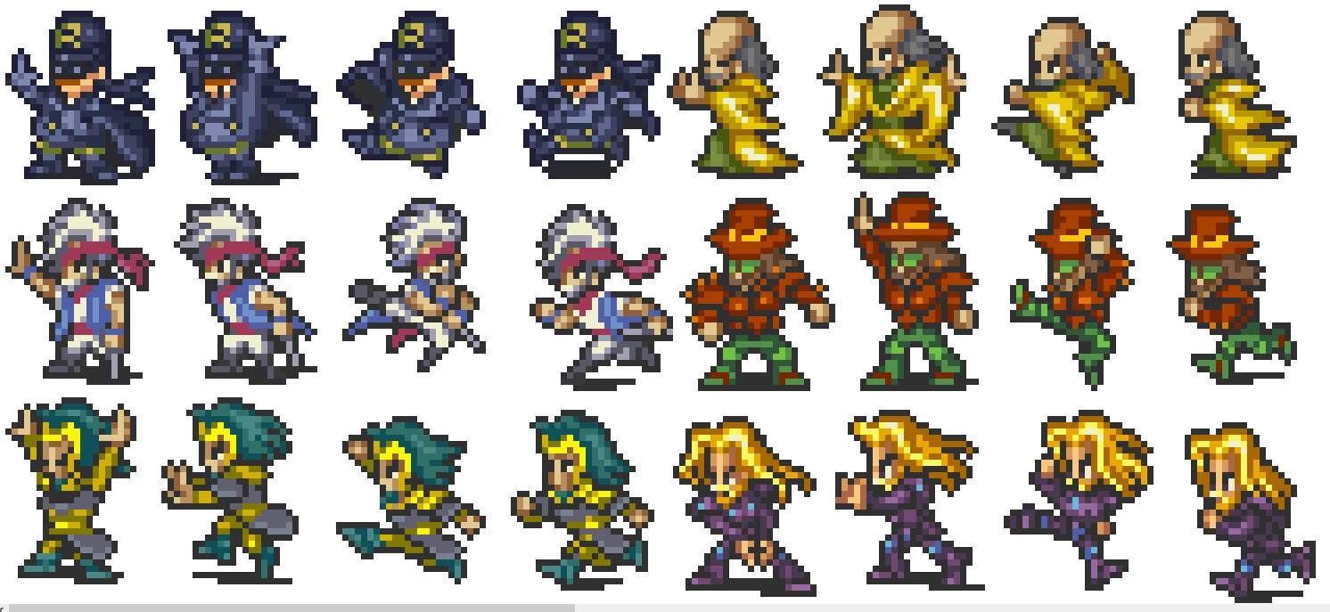 Mock-up modified sprites